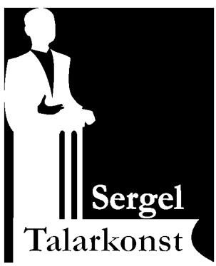 Logotyp Sergel Talarkonst vit